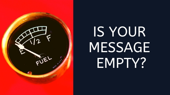 If your message were empty, would anyone notice?